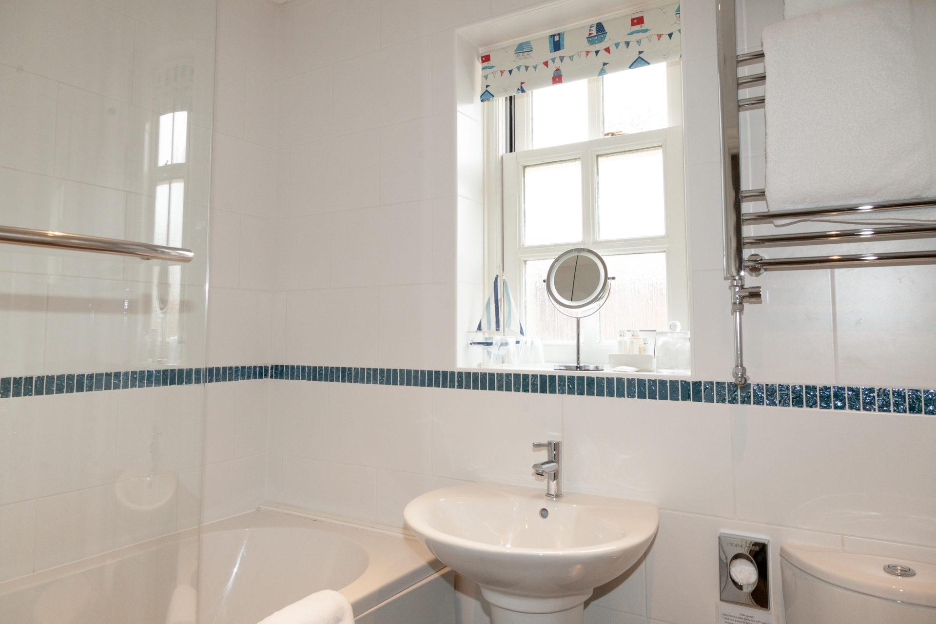 Bathroom at Mallock Cottage, Cockington, Torquay