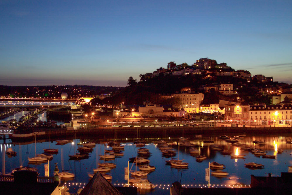 Torquay Harbour at night